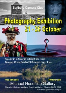 Banbury Camera Club Exhibition October 21st to 25th 2014