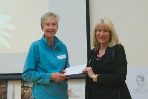 Diana Gamble receiving her award.