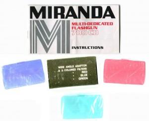 Miranda Flashgun 700CD details